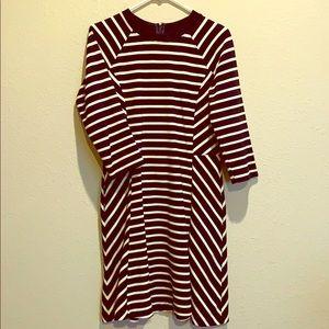 Banana Republic navy & white striped pocket dress